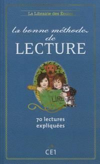 La bonne méthode de lecture CE1 : 70 lectures expliquées