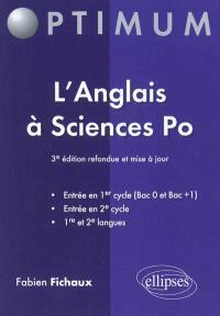 L'anglais à Sciences-Po : entrée en 1er cycle (bac 0 et bac +1), entrée en 2e cycle, 1re et 2e langues