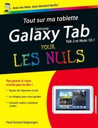 Tout sur ma tablette Samsung Galaxy Tab 2 et Note 10.1 pour les nuls