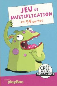Jeu de multiplication : en 54 cartes