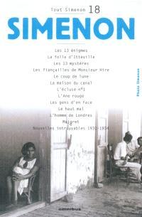 Tout Simenon. Volume 18
