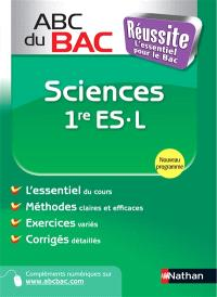 Sciences 1re ES, L : programme 2011
