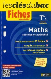 Maths, spécifique et spécialité, terminale S : nouveau programme