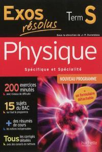 Physique spécifique et spécialité terminale S