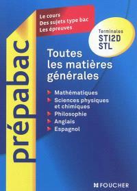 Toutes les matières générales : terminales STI2D, STL