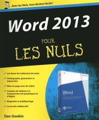 Word 2013 pour les nuls