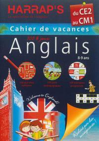 Cahier de vacances anglais Harrap's : du CE2 au CM1, 8-9 ans
