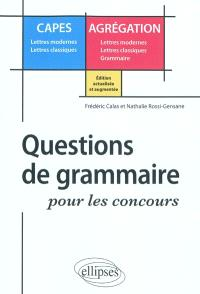Questions de grammaire pour les concours