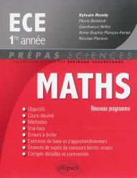Maths ECE 1re année : nouveau programme