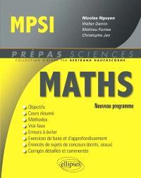 Maths MPSI : nouveau programme