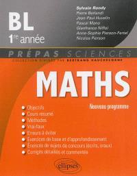 Maths, BL 1re année : nouveau programme