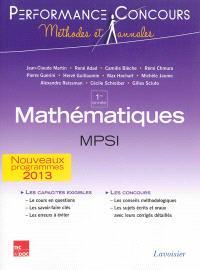 Mathématiques MPSI 1re année : nouveaux programmes 2013