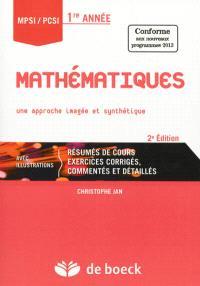 Mathématiques MPSI-PCSI 1re année : une approche imagée et synthétique