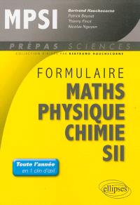 Formulaire MPSI : maths, physique, chimie, SII