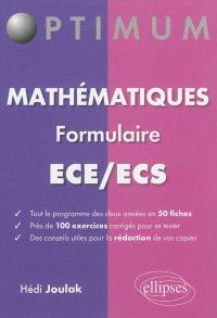 Mathématiques : formulaire ECE-ECS