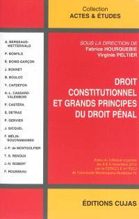 Droit constitutionnel et grands principes du droit pénal : actes du colloque organisé les 8 & 9 novembre 2012