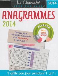 Anagrammes 2014 : 1 grille par jour pendant 1 an !