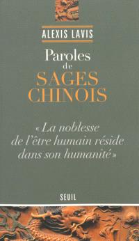 Paroles de sages chinois