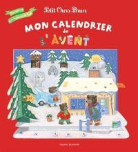 Mon calendrier de l'Avent Petit Ours Brun : un pop-up et 4 histoires de Noël