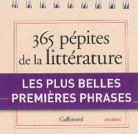 365 pépites de la littérature : les plus belles premières phrases