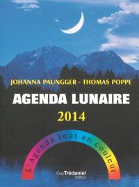 Agenda lunaire 2014 : l'agenda tout en couleur
