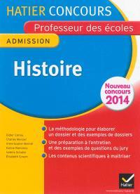 Histoire : admission : nouveau concours 2014