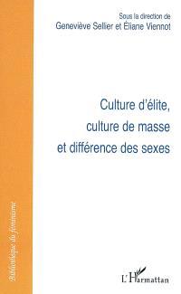 Culture d'élite, culture de masse et différence des sexes