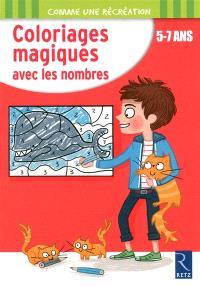 Coloriages magiques avec les nombres, 5-7 ans