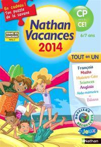 Nathan vacances 2014, du CP vers le CE1, 6-7 ans : tout en un