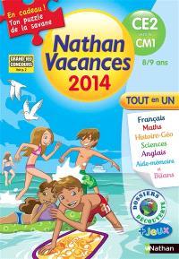 Nathan vacances 2014, du CE2 vers le CM1, 8-9 ans : tout en un