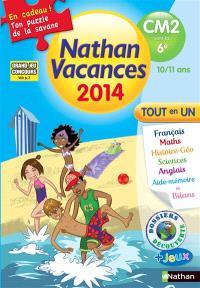 Nathan vacances 2014, du CM2 vers la 6e, 10-11 ans : tout en un