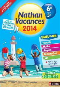 Nathan vacances 2014, de la 6e vers la 5e : tout en un