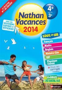 Nathan vacances 2014, de la 4e vers la 3e : tout en un
