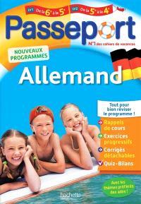 Passeport allemand de la 6e à la 5e ou de la 4e à la 3e : langue 1 ou langue 2