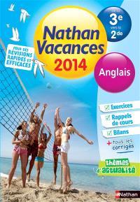 Nathan vacances 2014, de la 3e vers la 2de : anglais