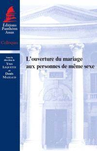 L'ouverture du mariage aux personnes du même sexe