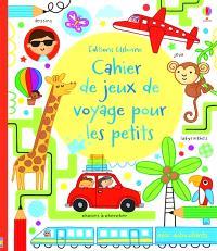 Cahier de jeux de voyage pour les petits