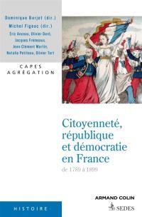 Citoyenneté, république et démocratie en France : de 1789 à 1899 : Capes, agrégation