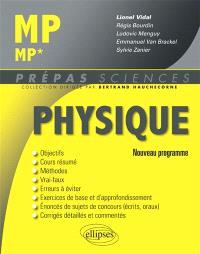 Physique MP-MP* : nouveau programme 2014
