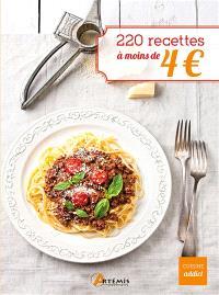 220 recettes à moins de 4 €