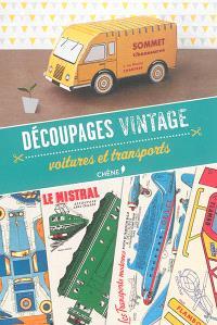 Découpages vintage : voitures et transports