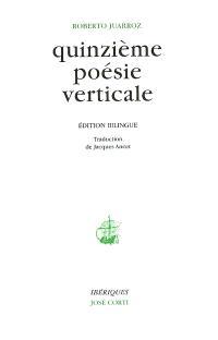 Quinzième poésie verticale