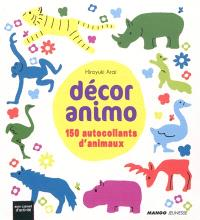 Décor animo : 150 autocollants d'animaux