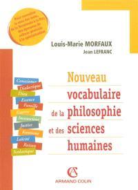 Nouveau vocabulaire de la philosophie et des sciences humaines