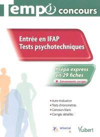 Entrée en IFAP : tests psychotechniques