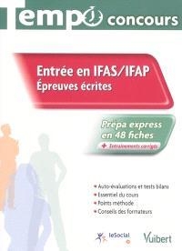 Entrée en IFAS-IFAP, épreuves écrites