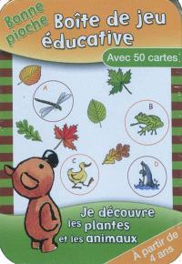 Je découvre les plantes et les animaux : boîte de jeu éducative