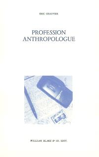 Profession anthropologue