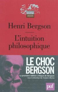 L'intuition philosophique