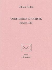 Confidence d'artiste : janvier 1913